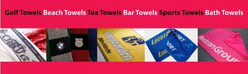 Corporate Branded Promotional Towels, Golf Towels, Gym Towels and Beach Towels