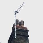 Yagi Aerial Installed to chimney stack