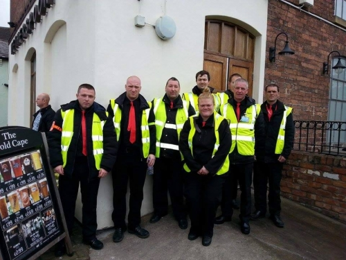 one of our Sia door supervisor teams in April 2015 ready to start Mold real ale