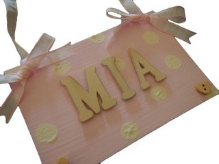 Hand Painted Name Plaque £7