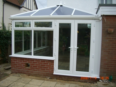 Conservatory installed in Felixstowe (catflap to be finished)