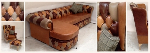 Bespoke Leather Corner Sofa