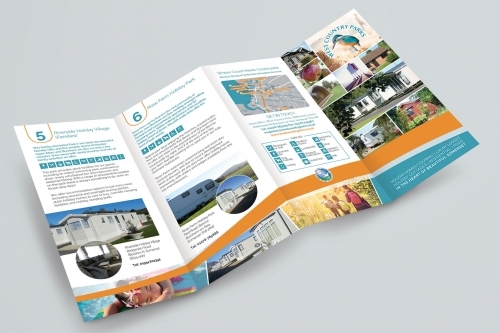 Folded Leaflet for West Country Parks