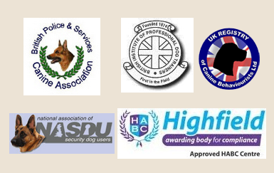 Logos of professional bodies to which Delta One Canines is aligned