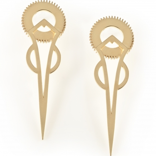 Gold Tick Earrings by Clarice Price-Thomas