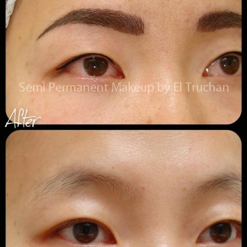 Oriental Hairstroke Eyebrows Semi Permanent Makeup By El Truchan @ Perfect Definition