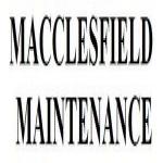 Macclesfield Maintenance