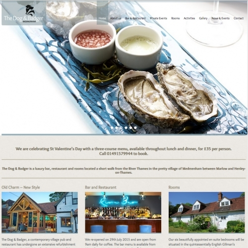 The Dog & Badger Responsive Website