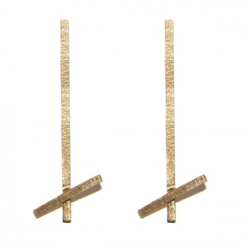Gold Betty Earrings by Jane Gowans