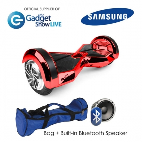 """8"""" Red Chrome Hoverboard Swegway"""