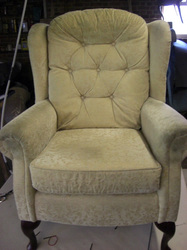 Wing arm chair before