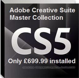 Adobe Creative Suite Master Collection CS5.5 only £499.99 installed!