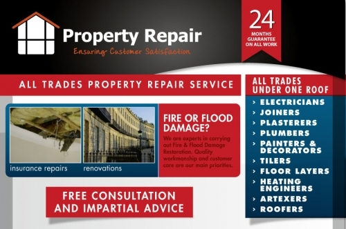 Property Repair | The Complete All Trades Company based in Edinburgh.