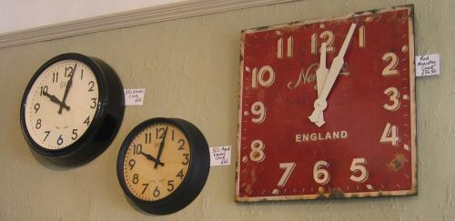 We have over 15 different clocks to choose from in stock, including wall, alarm and travel clocks