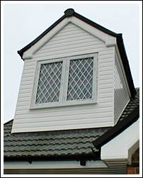 Dorma window, PVCu Cladding with One piece dry verge over gable