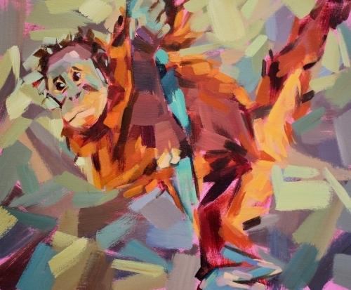"""Marie Antoniou """"Baby Orangutan 51x61 £395"""