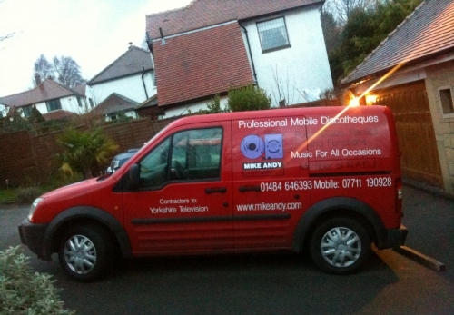 Mike Andy Entertainments Ltd Red Transit Connect Van