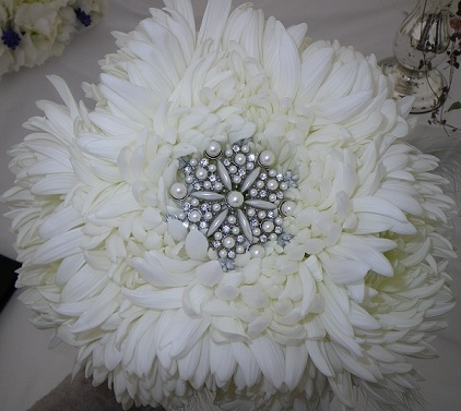 Vintage White Chrysanthemum Bouquet