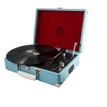 ATTACHE RECORD PLAYER TURNTABLE SUITCASE in French Blue
