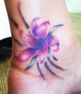 West Coast Tattoos' (no outline) Colour work by Blan. Orchid.