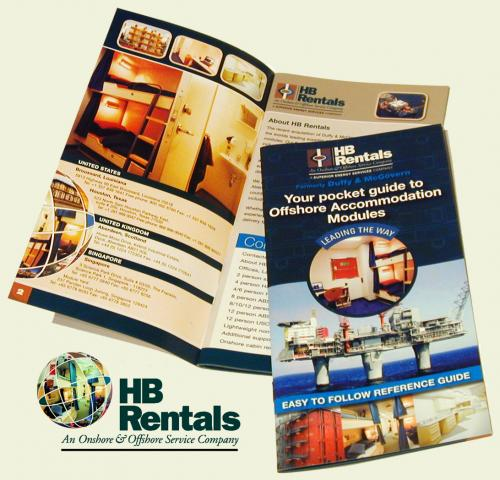 HB Rentals brochure design by G3 Creative
