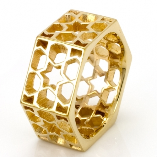 Gold Promise Lattice Ring by Laura Gravestock