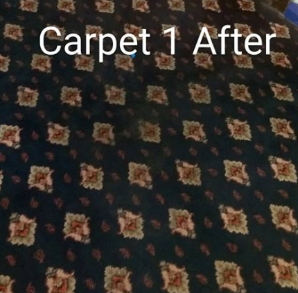 Function room carpet after cleaning
