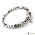 925 Sterling Silver Nomad Rounded Snake Weave Bracelet by Silver Nomad Jewellery UK