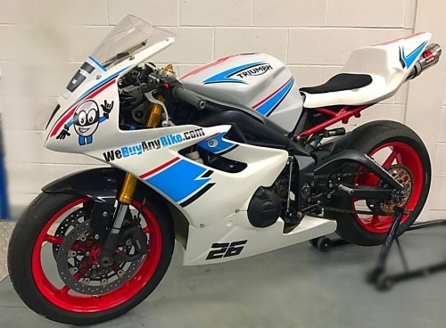 We Buy Any Bike are sponsoring Karl Chamley in the Pre-National Sport 600 Championship, his Daytona might be the give away..?!