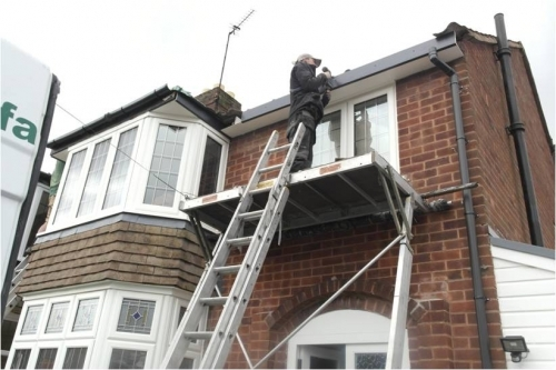 Installing Grey Foil Wrapped Fascia Board