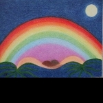 Rainbow - available as greeting card (from £2), A4 print (£15) and original