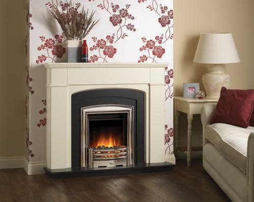 Laura Ashley cream surround with electric fire