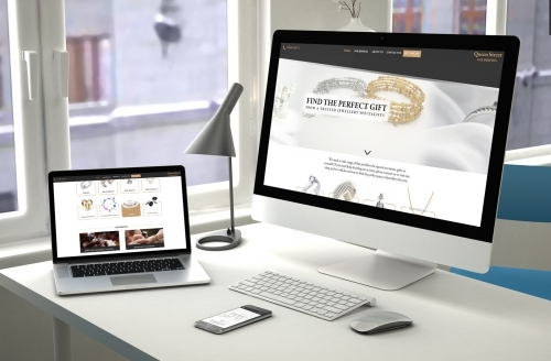 Queen Street Goldsmiths Responsive Website, E-Commerce