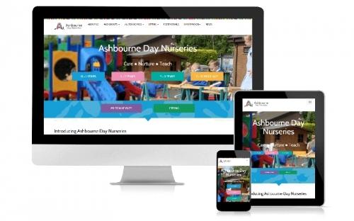 Responsive Web Design & Development Ashbourne Day Nurseries