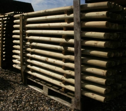 huge range of round fence posts