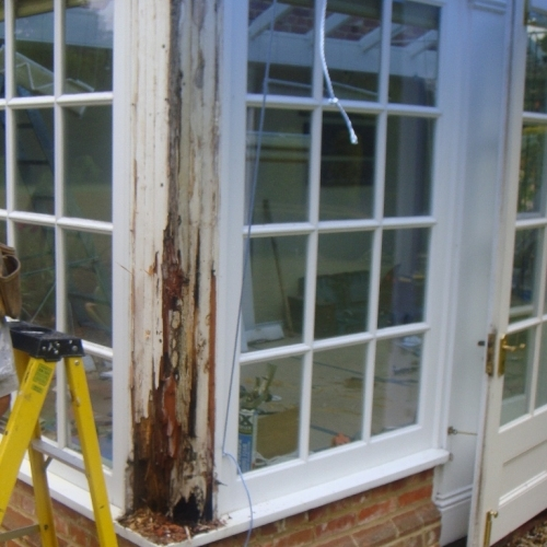 Conservatory Repair - Rotten Timber Replacement