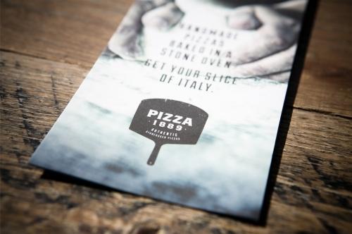 Menu Design, Artwork & Print Pizza 1889