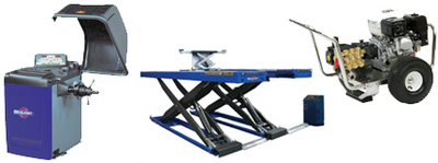 Scissor lift, 2 post lifts and 4 post vehicle lifts