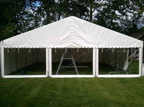 9m marquee with picture window walls
