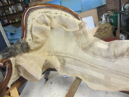 Chaise longue - Work starting on armrest