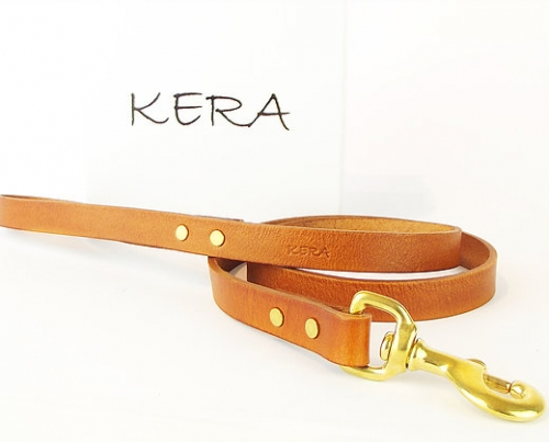 Luxury Tan Leather Dog Lead