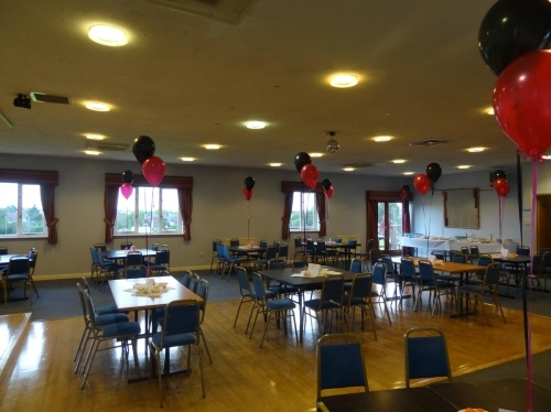 Function room ready for quiz night