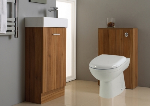 Many styles of bathroom vanity units