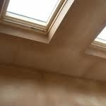 Ceiling plastering around roof windows in Wallasey
