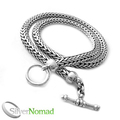 925 Sterling Silver Rounded Snake Necklace by Silver Nomad Jewellery UK