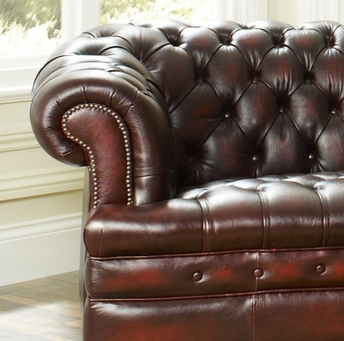 Antique Red Chesterfield Sofa