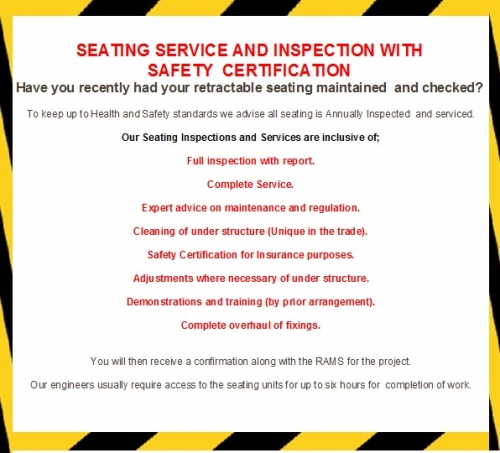 Seating Inspection and Service with Safety Certification
