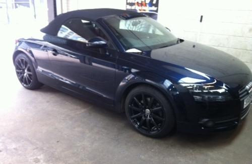 Alloys refurbished in gloss black!