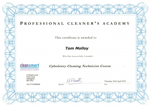 Cleansmart Academy Trained - Uoholstery