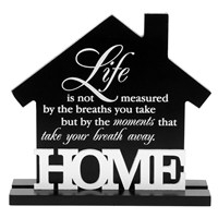 Black White Style House Home Plaque 16 X 17cm